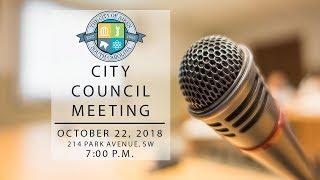 Aiken City Council Meeting - Oct 22, 2018