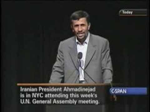 Ahmadinejad @ Columbia -- No Homosexuals in Iran!