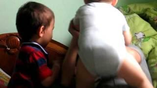 James n Francis r playing with their mom kekekek :XXXX