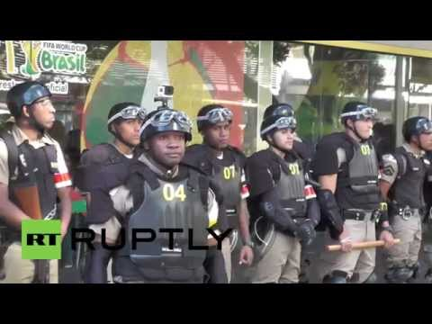 Brazil: Heavy security meets anti-FIFA protest in Belo Horizonte