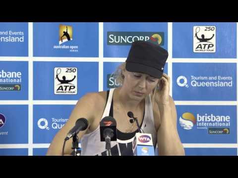 Maria Sharapova Semi Final Press Conference - Brisbane International 2014