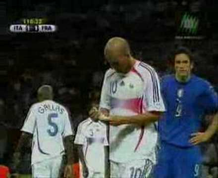 Zidane headbutt Video