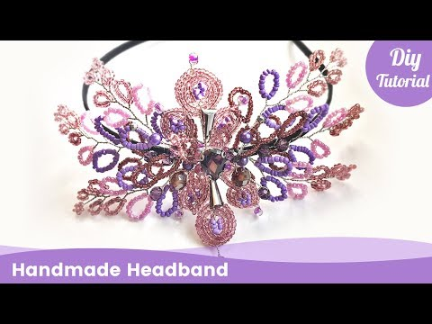 DIY Headband from Beads. Handmade Hair Accessories Ideas. - YouTube