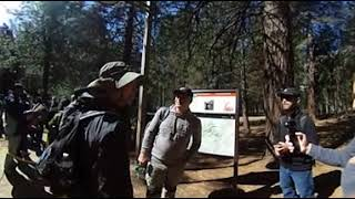 Getting ready to climb Myst Trail to Vernal and Nevada Falls
