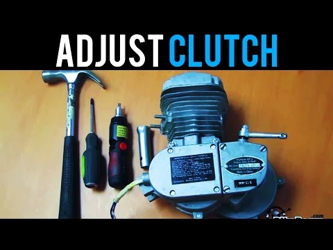 How To Adjust Your Clutch for 48cc 50cc 66cc 80cc 2-Stroke Motorized Bike by BikeBerrycom