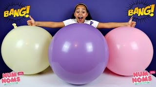 3 Giant Balloon Toy Surprise - Num Noms Rainbow Lights - Toys For Kids - Toy Opening