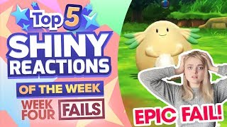 TOP 5 SHINY FAILS OF THE WEEK! Pokemon Let's GO Pikachu and Eevee Shiny Montage! Week 4
