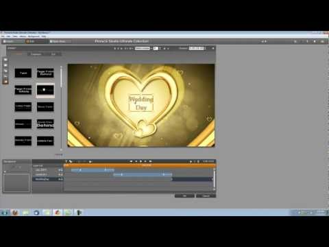Pinnacle Studio 15 Tutorial- How to Make a Wedding Video Intro (2)