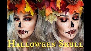 🎃Calavera de Halloween /💀 Halloween Skull makeup tutorial | auroramakeup