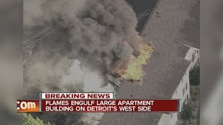 Detroit apartment complex damaged by large fire