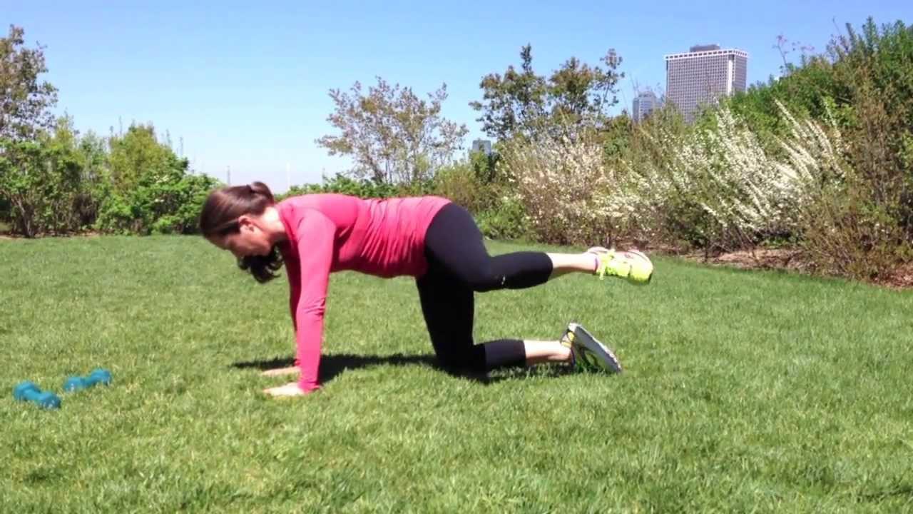Donkey kicks exercise