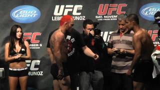 UFC 138 Weigh In: Leben vs. Munoz