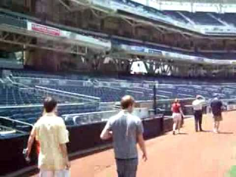 Petco Park Tour - San Diego Padres Baseball Dugout Video