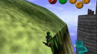 Left hills of Hyrule Castle as child with only sword