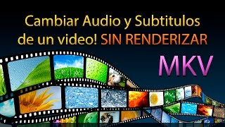 Cambiar Audio y Subtitulos de un video! SIN RENDERIZAR