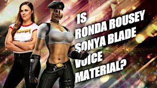 Ronda Rousey playing as sonya form [Mortal Kombat 11] debate video