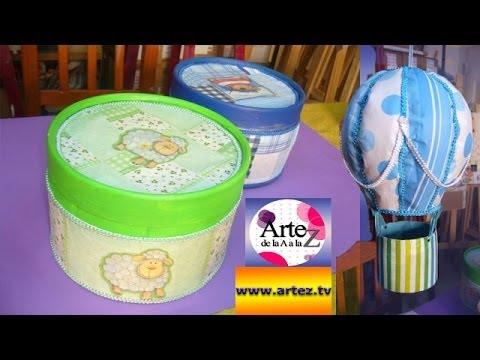 Aprende a decorar envases de cart n youtube - Cajas para decorar ...