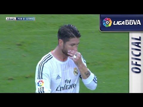 Amarilla a Ramos por los codazos a Neymar