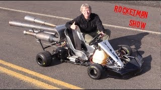 DRIFTING JET ENGINE powered Kart!! off road drifting! Rocket man.