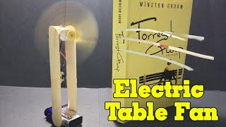 How to Make an Electric Table Fan - Easy and Simple - Tutorial