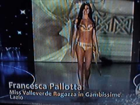 Francesca Pallotta,Miss Valleverde Lazio,Top 20 at Miss Italia 2009.Bikini Catwalks