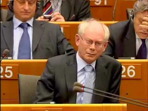 Who are you Mr President? Nigel Farage asks Van Rompuy
