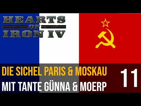 Hearts of Iron IV | 11 | Die Soviet Sichel Paris & Moskau mit Tante Günna & Moerp | deutsch