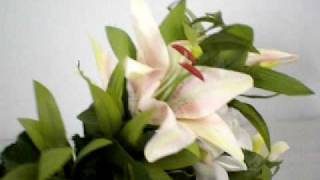 bush of artificial flowers lilies