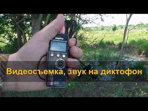 ЗВУК НА ДИКТОФОН при видеосъемке в походе, ветрозащита микрофона