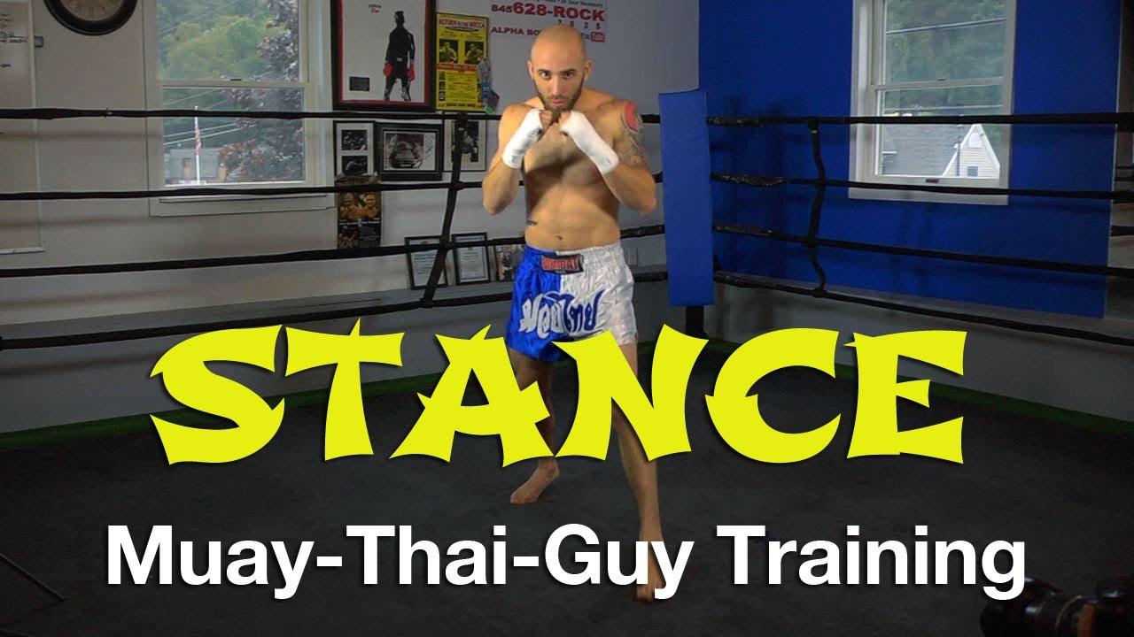 Proper muay thai stance