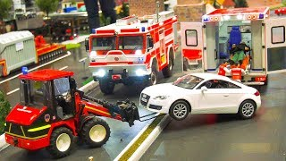 GREAT RC MODEL SCALE TRUCKS, RC TRACTORS, RC DOZER, RC FIRE RESCUE TRUCKS AT WORK!!