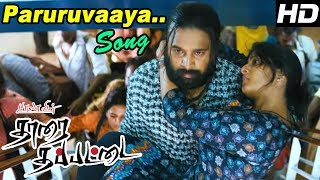 Tharai Thappattai | Sasikumar and troupe getting back to India | Paruruvaaya Song | Varalaxmi