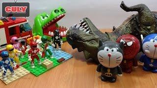 siêu nhân Khủng long bạo chúa cá sấu cắn tay nobita doremon người nhện đồ chơi trẻ em toys kids