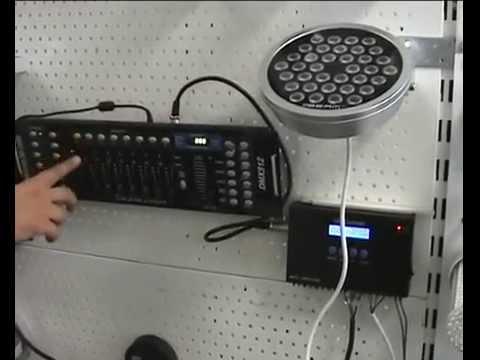 Управление светодиодными светильниками по DMX протоколу