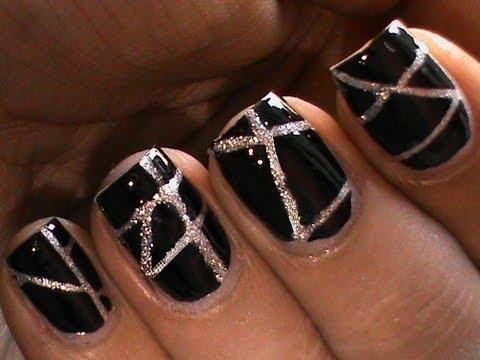 striping tape nail art tutorial for beginners diy at home