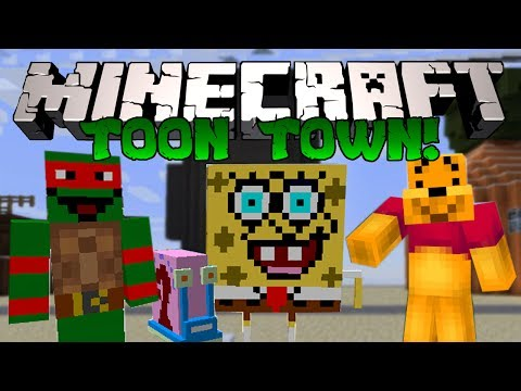 Minecraft: ГОРОД МУЛЬТЯШЕК? (Спанч Боб, Гэри, Черепашки Ниндзя и тд) [Обзор модов]