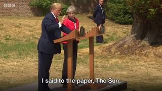 Donald Trump: Key moments from Chequers - BBC News
