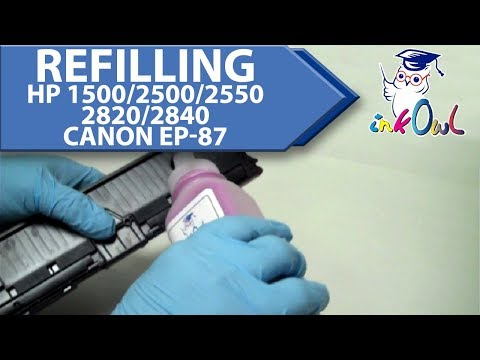 How to Refill HP Color LaserJet 1500. 2500. 2550. 2820. 2840 and Canon EP-87