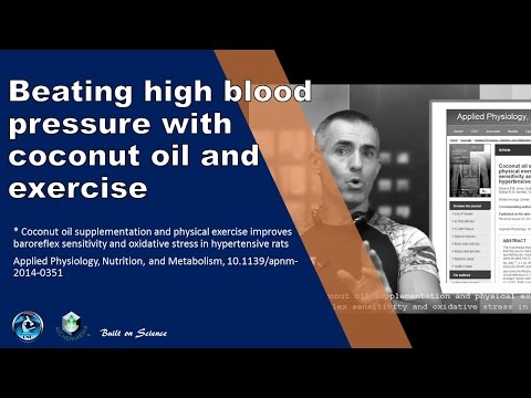 Beating high blood pressure with coconut oil and exercise