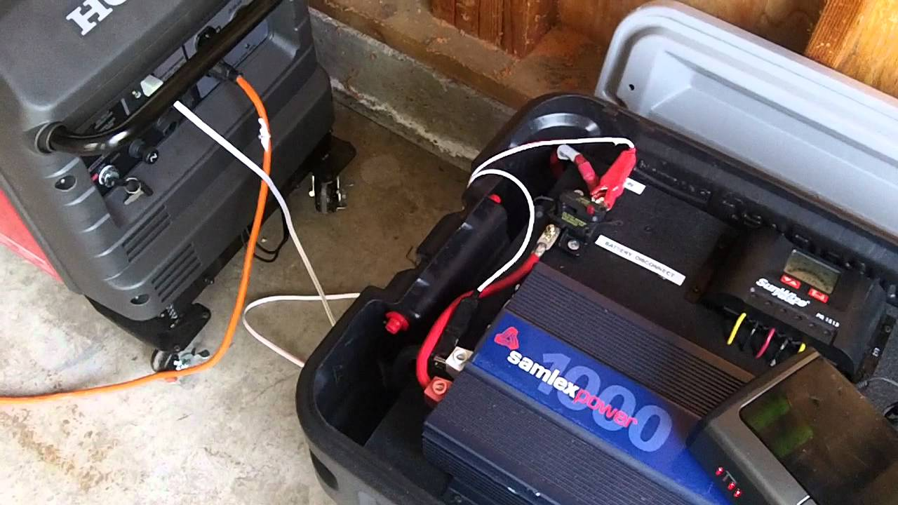 SolMan emergency solar hybrid backup power with generator - YouTube