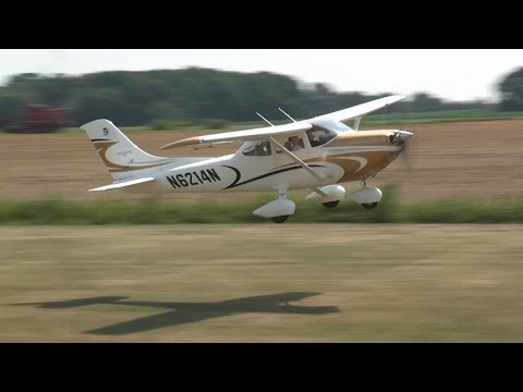 Giant Scale Cessna 182 RC plane w/ 4 cylinder gas engine!! 4-stroke!!
