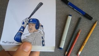 Derek Jeter Hand-Drawn Animated Flipbook