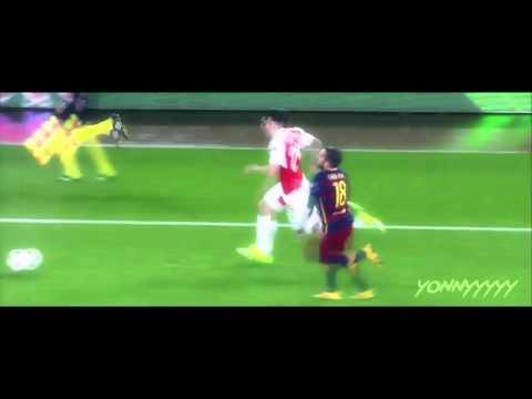 Hector Bellerin outpacing Jordi Alba