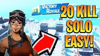 How to get a 20 KILL Solo Win EASY! How to Win Fortnite Solo! (Xbox/Ps4 Fortnite Tips)