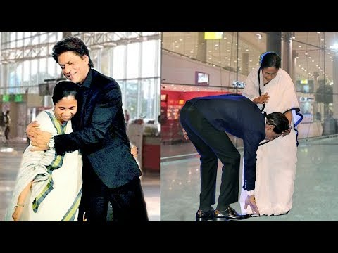 Shahrukh Khan Shows Respect To Mamata Banerjee By Touching Her FEET In Public thumbnail