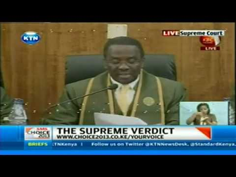 Raila Odinga's Petition thrown out by supreme Court