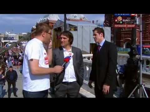 Малкин и Овечкин █ интервью █ Парад чемпионов мира 2012
