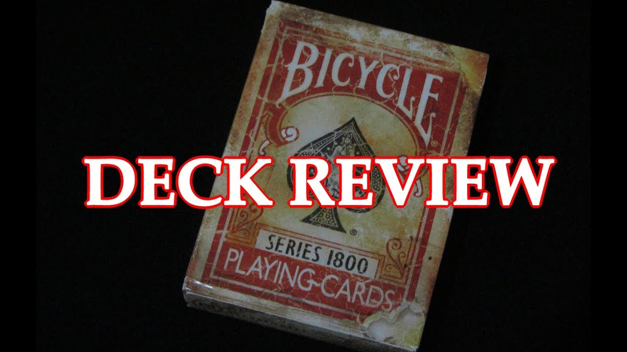 Gaff Deck Review Deck Review Bicycle Red