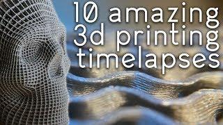 Satisfying 3D Print TimeLapse Compilation 6 (Prusa I3 Mk3 Slic3r Gyroid Macro lens)
