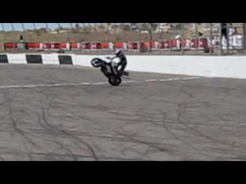 BMW S 1000 RR Stunt Motorcycle, Wheelie, Burnout & Stoppie With Teach